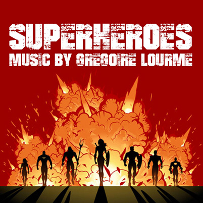 Grégoire Lourme Album CD Super Heroes
